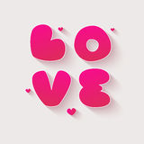 Valentindagkort med hjärta stock illustrationer
