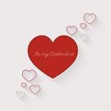 Valentindagkort med hjärta vektor illustrationer