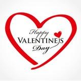 Valentindagkort med hjärta Arkivfoto
