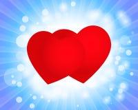 Valentindagkort med hjärtor royaltyfri illustrationer