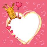 Valentindagkort med nalle Fotografering för Bildbyråer