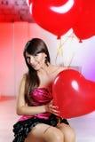 Valentindagkvinna royaltyfri fotografi