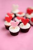 Valentindagmuffin Royaltyfri Foto