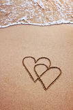 Valentindagvykort Royaltyfria Foton