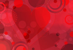 Valentine's Bokeh. Abstract Valentine's themed background featuring hearts and bokeh circles Stock Images