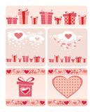 Valentine's cards Royalty Free Stock Photography