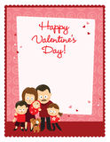 Valentine's Day flyer with family Stock Image