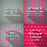 Valentine's Day greeting cards set Royalty Free Stock Photography