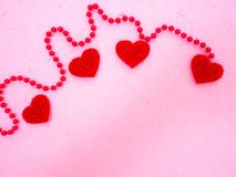 14 Valentine's Day pink hearts stock photography
