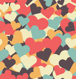 Valentine's Day seamless pattern with hearts. Stock Images
