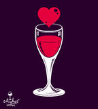 Valentine�s day theme vector illustration placed on dark backg Royalty Free Stock Photo