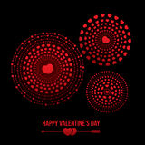 Valentine's day. Vector illustration of bursting heart fireworks. Happy Valentine's Day  theme Royalty Free Stock Photography