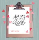 ValentineÂ的天卡片vecotr ilustration 库存图片