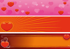 Valentine´s day banners Royalty Free Stock Images
