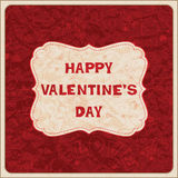Valentine´s Day card Stock Image