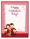Valentineâs dnia ulotka z rodziną Obraz Stock