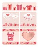 Valentineâs Karten Lizenzfreie Stockfotografie