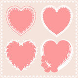 Valentineы day hearts design lace Stock Images