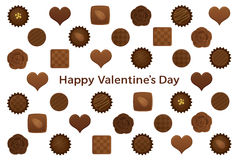 Valentine�s Day postcard with various chocolates. Royalty Free Stock Photo