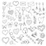 Valentine& x27 στοιχεία ημέρας του s διανυσματική απεικόνιση