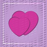 Valentine€™s dzień lub miłość projekt Obrazy Royalty Free