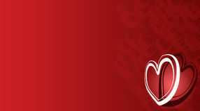 Valentine. A abstract valentine background with hearts swirls Royalty Free Stock Image