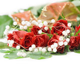 Valentine. Background with red roses and heart Royalty Free Stock Photos