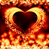 Valentine. Abstract valentine card with heart Royalty Free Stock Photo