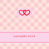 Valentine. The cover with hearts and copy space for text Royalty Free Stock Image