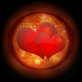 Valentine. Hearts created in Adobe Illustrator Royalty Free Stock Photography