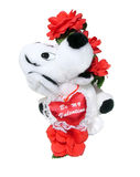 Valentine. Stuffed toy dog stock images