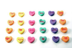 Valentine. Candy Sweethearts royalty free stock photo