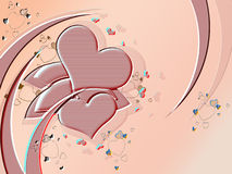 Valentine. Abstract background valentine with heart Stock Photos