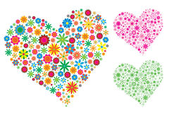 Valentine. Vector Illustration of Flower Heart Stock Photography