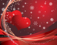 Valentine. St. Valentine Day greeting card with hearts Royalty Free Stock Photography