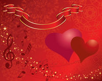 Valentine. St. Valentine Day greeting card with hearts Stock Image