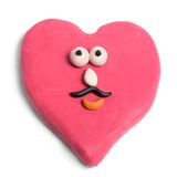 Valentine. Male valentine made of plasticine isolated on white royalty free stock photography