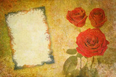 Valentine abstract background. Abstract vintage flower background illustration Royalty Free Stock Photography