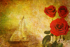 Valentine abstract background. Abstract vintage flower background illustration Stock Photos