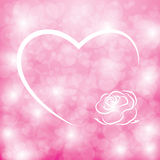 Valentine15. Abstract background heart shape boken in pink tone Royalty Free Stock Photos