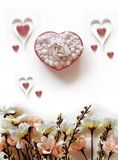 Valentine Abstract com sumário do coração Imagens de Stock