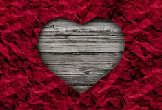 Valentine Abstract Concept. On rustic wood with copy space in a 3D illustration style Royalty Free Stock Photos