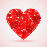 Valentine abstract red mosaic heart Stock Image