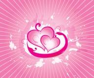 Valentine abstrait de vecteur Photos libres de droits