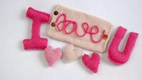 Valentine-achtergrond, liefdehart, diy Valentijnskaartendag, Stock Afbeeldingen