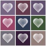 Valentine-achtergrond met hartbel Royalty-vrije Stock Fotografie