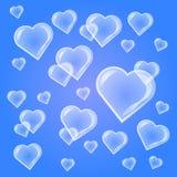 Valentine-achtergrond met hartbel Royalty-vrije Stock Afbeelding