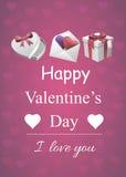 Valentine-affiche Royalty-vrije Stock Foto