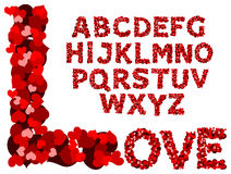 Valentine alphabet Royalty Free Stock Photos