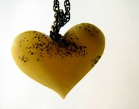 Valentine amber heart Stock Photo